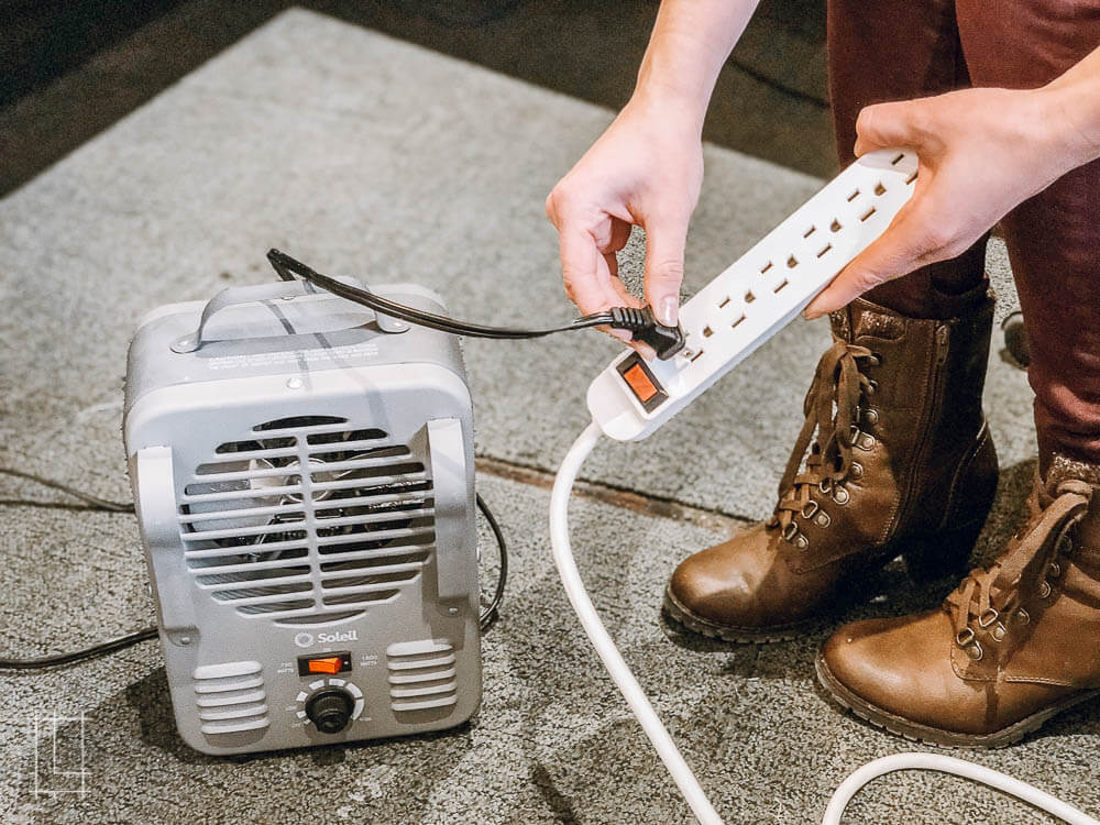 Unplug space heaters from power strips to avoid a meltdown.