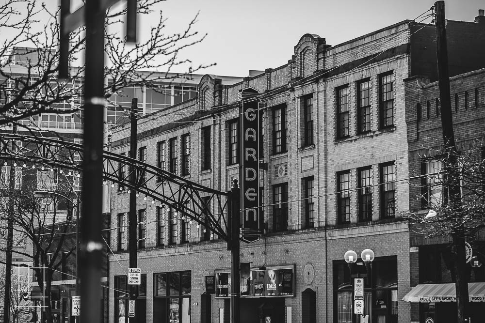 Garden Theatre. Black and white old theater. Located in Columbus, Ohio, Lykens Companies serves Columbus, Ohio's urban core with an eye toward historical preservation and restoration. We are deeply involved in the Short North, Victorian Village, Italian Village, Olde Towne East, and Weiland Park communities. We are a landlord, property management, and property development company. We create the best Short North apartments and rentals: Short North Apartment Rentals and Apartments, Wonder Bread, houses for rent in Columbus, Ohio, Downtown apartments and Downtown Columbus rentals and apartments. For rent!
